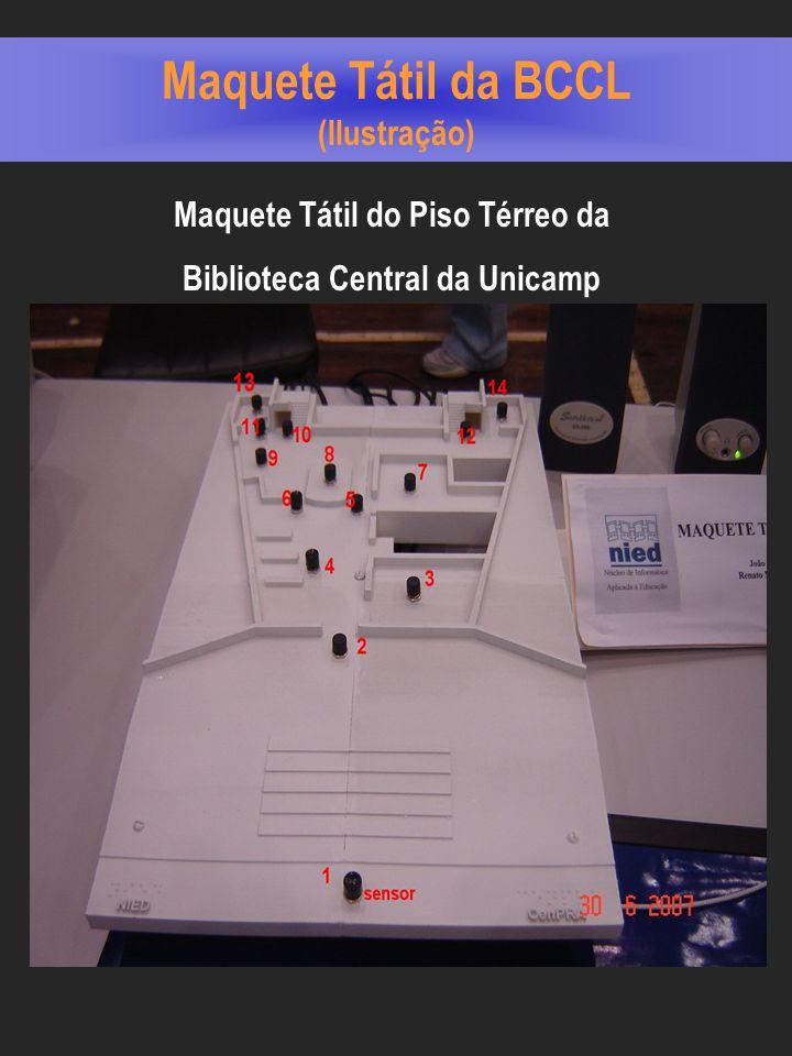 Maquete Tátil da BCCL (Ilustração) Maquete Tátil do Piso Térreo da Biblioteca Central da Unicamp