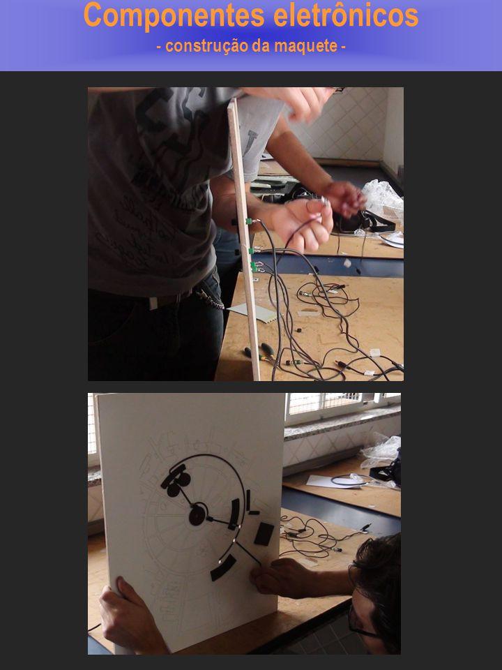 Componentes eletrônicos - construção da maquete -