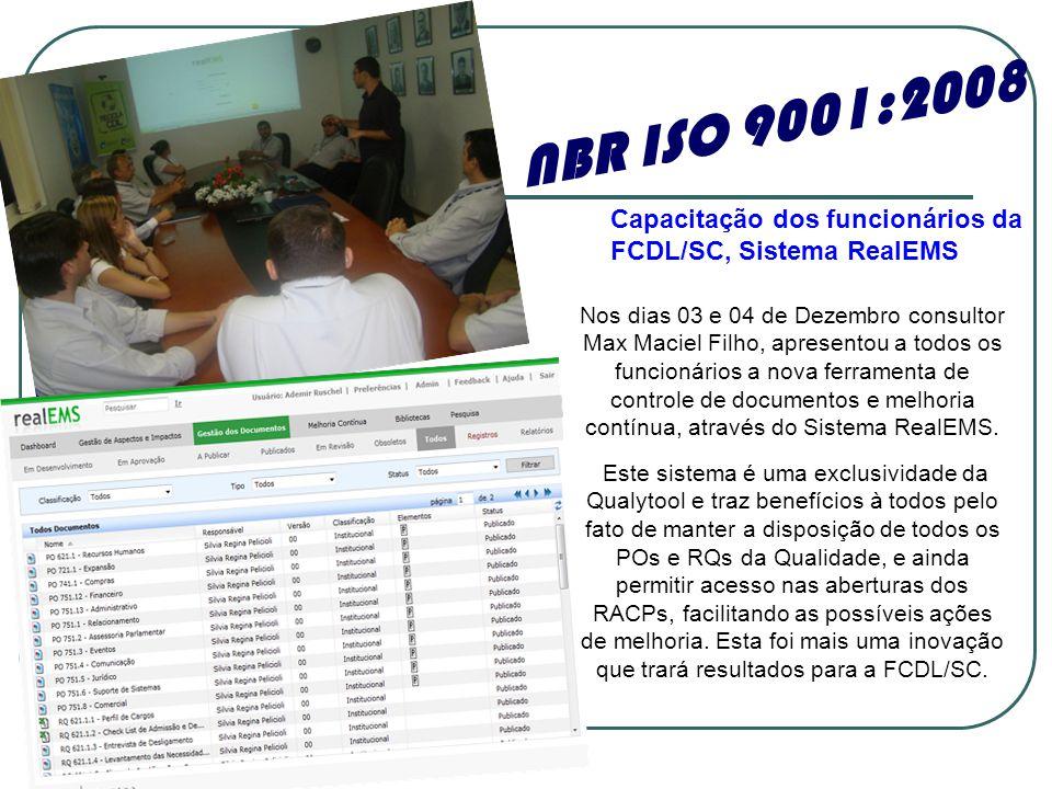 Nos dias 03 e 04 de Dezembro consultor Max Maciel Filho, apresentou a todos os funcionários a nova ferramenta de controle de documentos e melhoria con