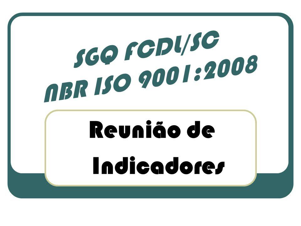 Reunião de Indicadores SGQ FCDL/SC NBR ISO 9001:2008