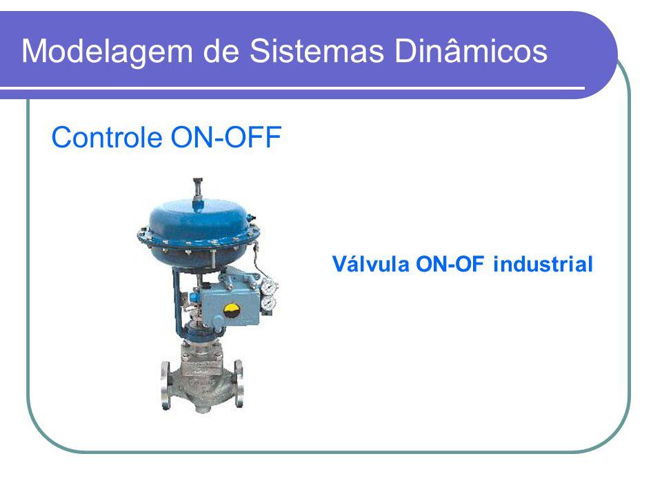 Controle ON-OFF Válvula ON-OF industrial Modelagem de Sistemas Dinâmicos