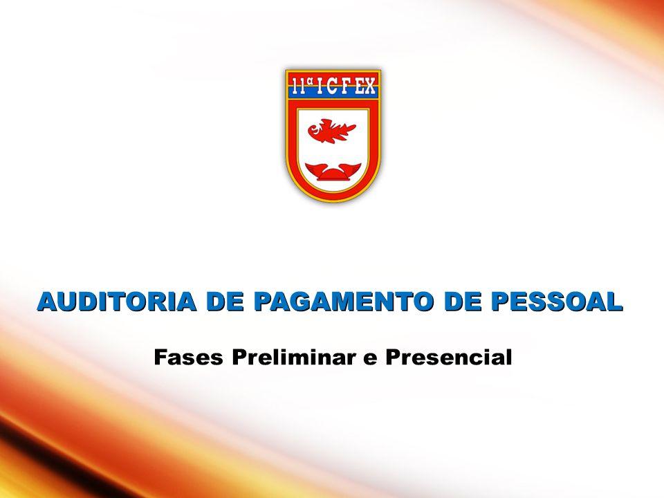 AUDITORIA DE PAGAMENTO DE PESSOAL AUDITORIA DE PAGAMENTO DE PESSOAL Fases Preliminar e Presencial