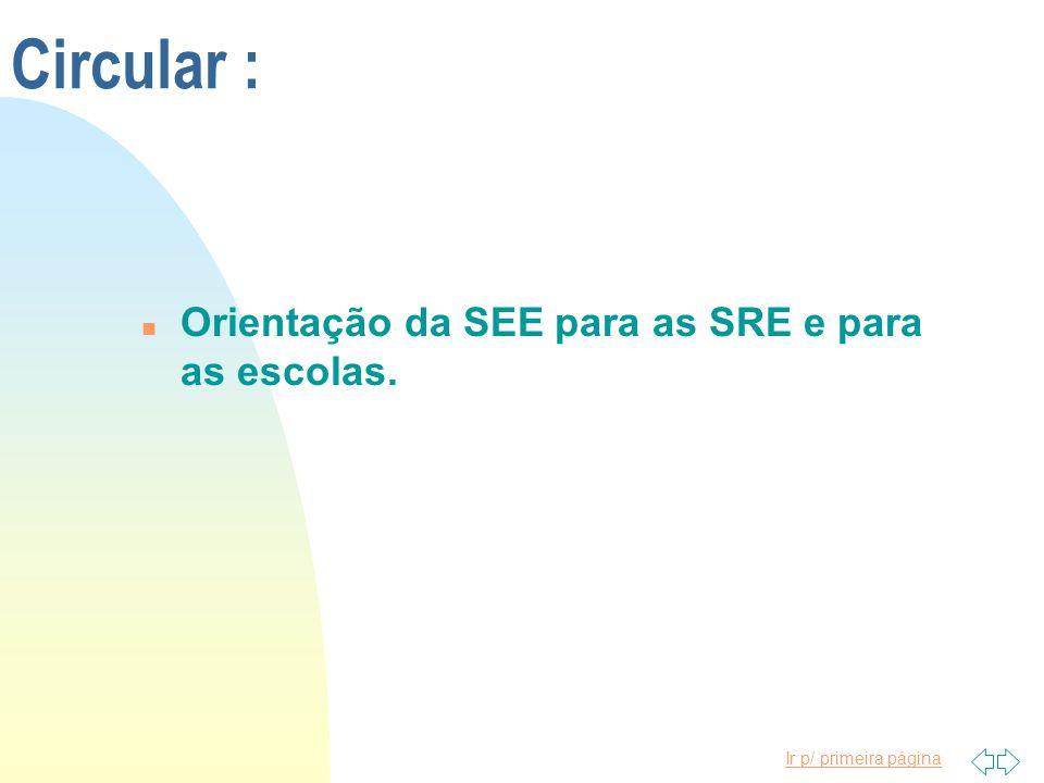 Ir p/ primeira página Belo Horizonte, 22 de outubro de 1996 a) ANA LUIZA MACHADO PINHEIRO Secretária de Estado de Educação de Minas Gerais Publicado no MG de 25-10-1996