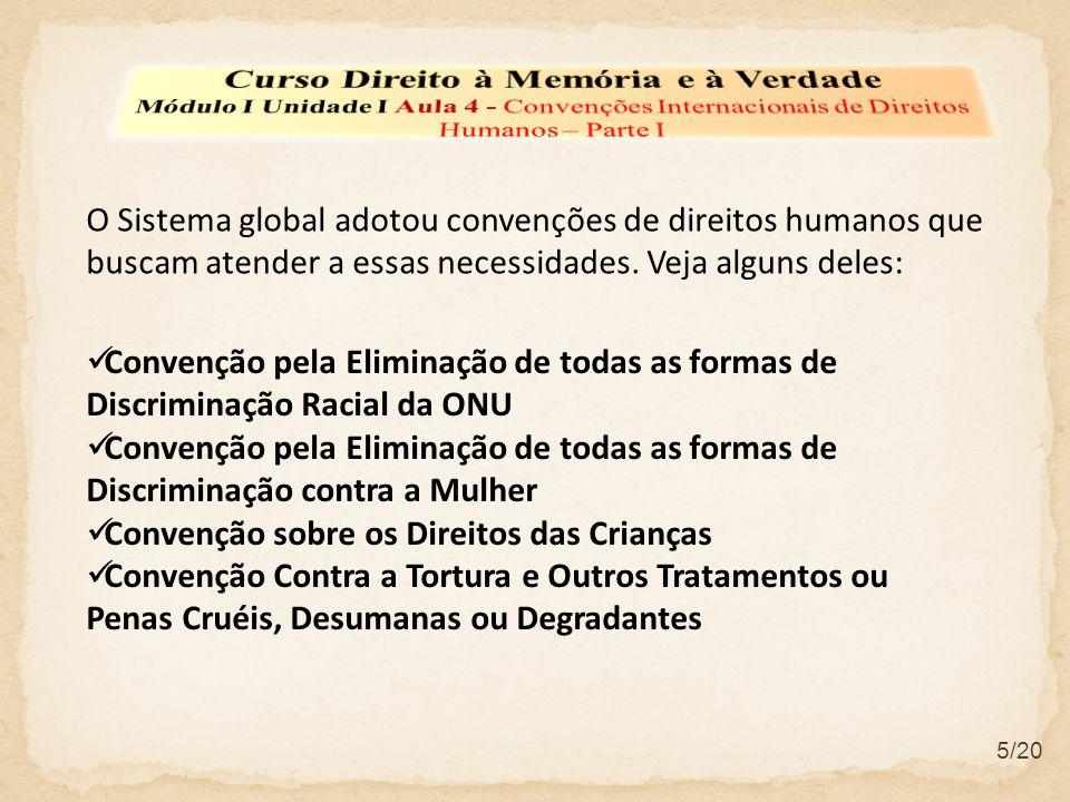 Convenção pela Eliminação de todas as formas de Discriminação Racial da ONU Convenção pela Eliminação de todas as formas de Discriminação contra a Mul