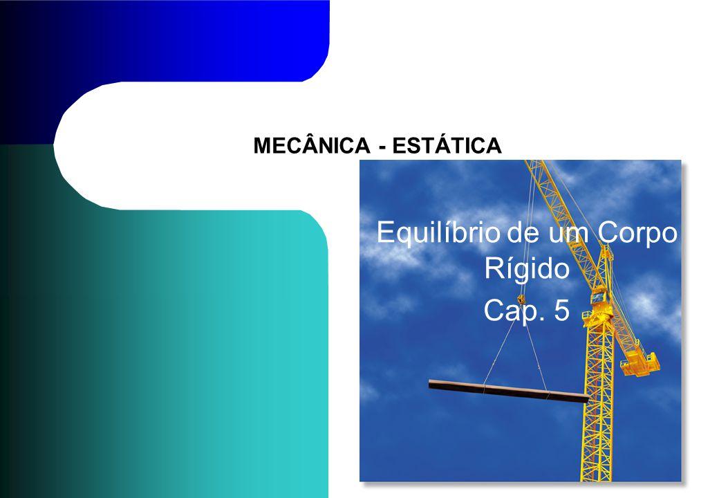 MECÂNICA - ESTÁTICA Equilíbrio de um Corpo Rígido Cap. 5