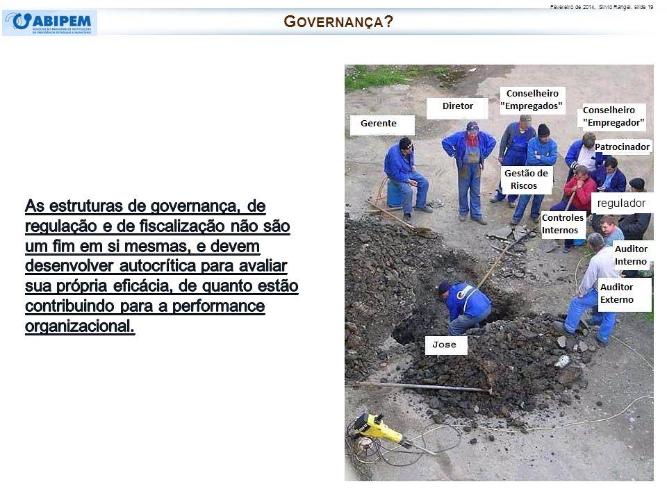 Fevereiro de 2014, Silvio Rangel, slide 19 regulador G OVERNANÇA ?
