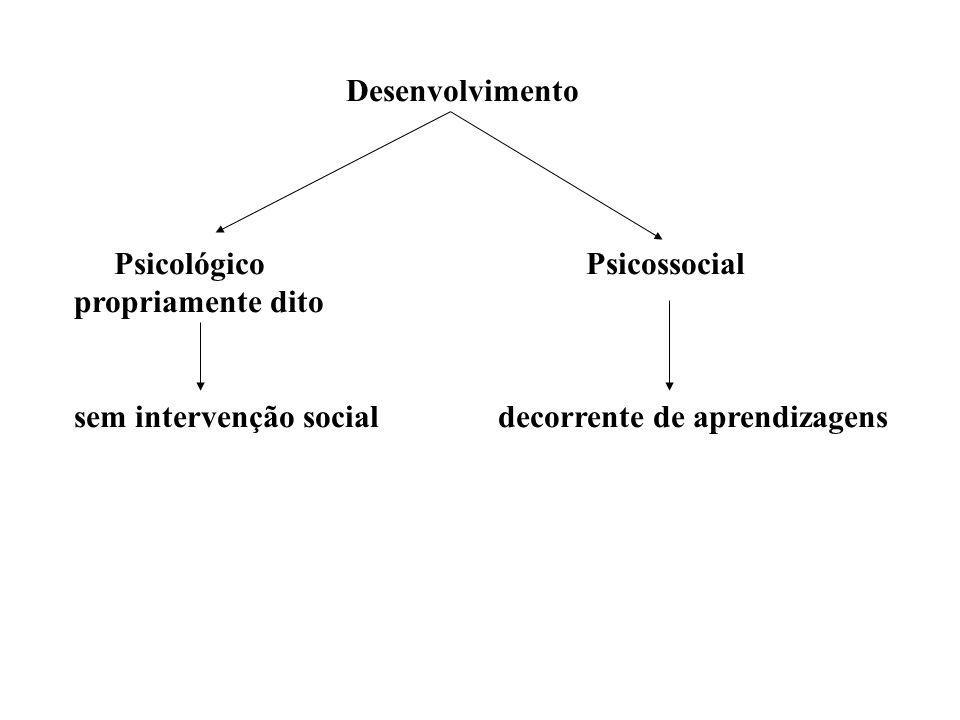 Desenvolvimento Psicológico Psicossocial propriamente dito sem intervenção social decorrente de aprendizagens
