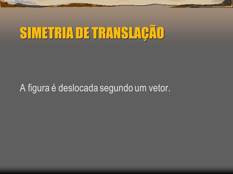 SIMETRIA DE TRANSLAÇÃO A figura é deslocada segundo um vetor.