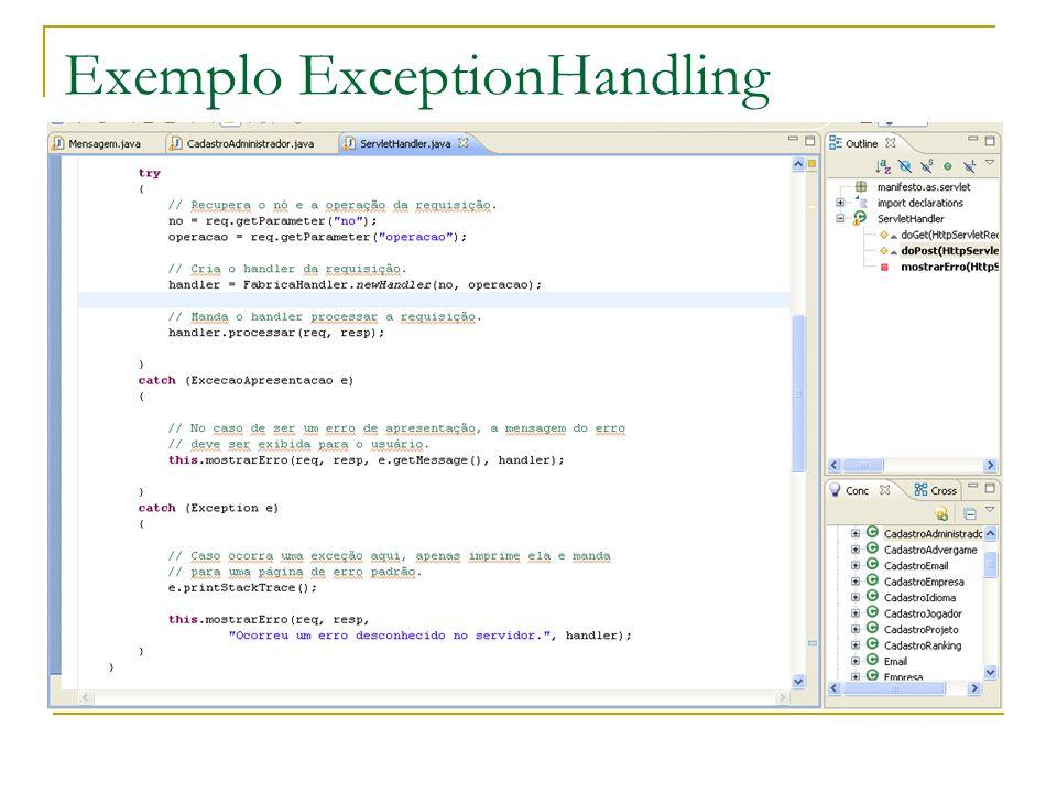 Exemplo ExceptionHandling