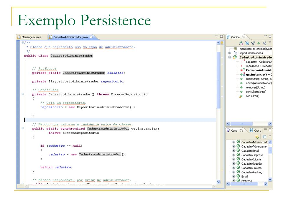Exemplo Persistence