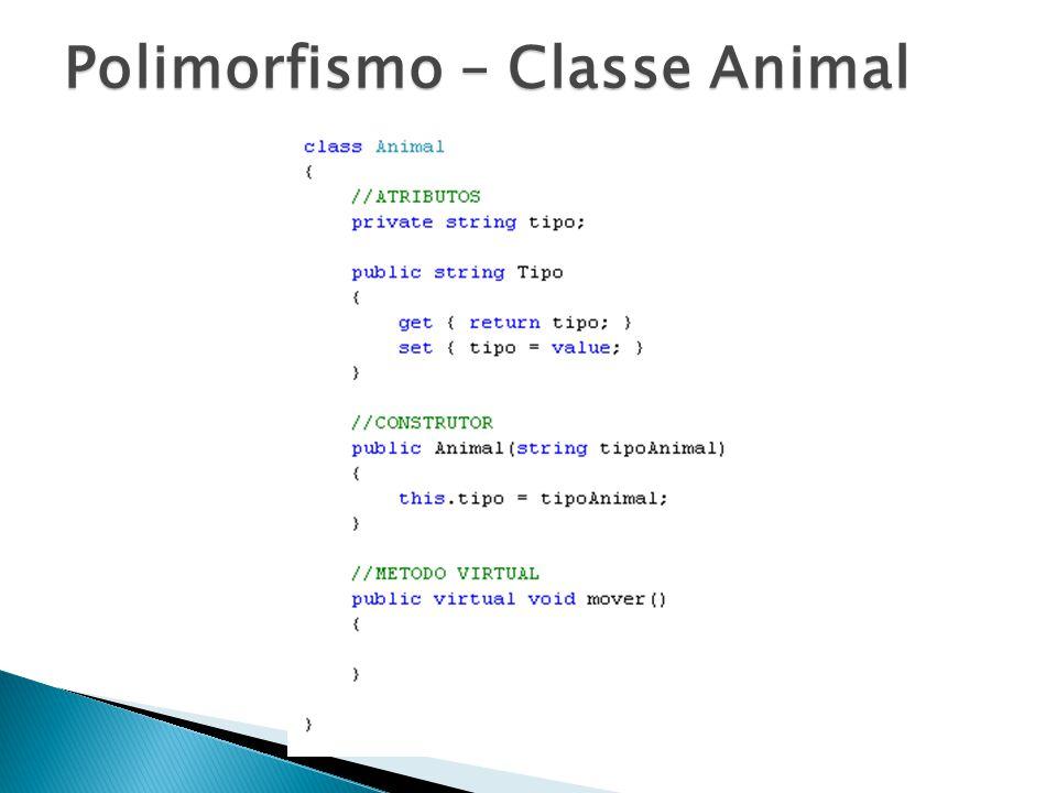Polimorfismo – Classe Animal