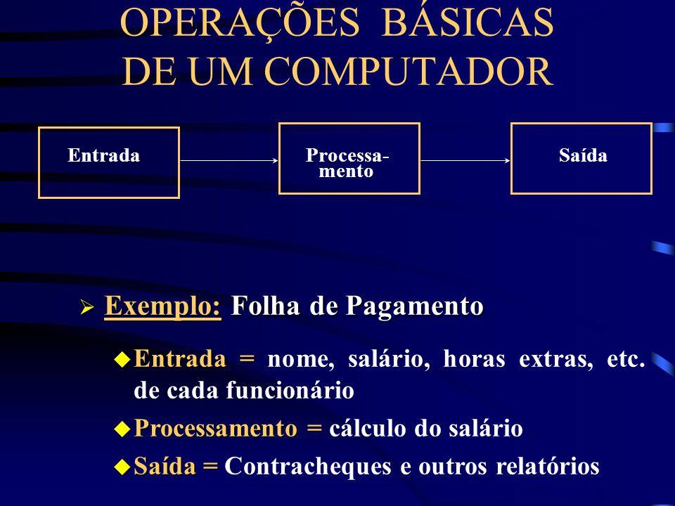 BIT - BIT - Binary Digit. É a menor unidade de informação em um computador. Pode ser 0 (desligado) ou 1 (ligado) Byte - Byte - conjunto de 8 BITs. É u