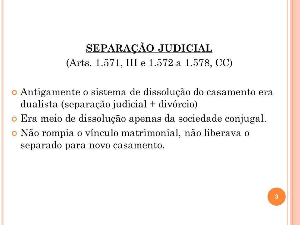 SEPARAÇÃO JUDICIAL (Arts.