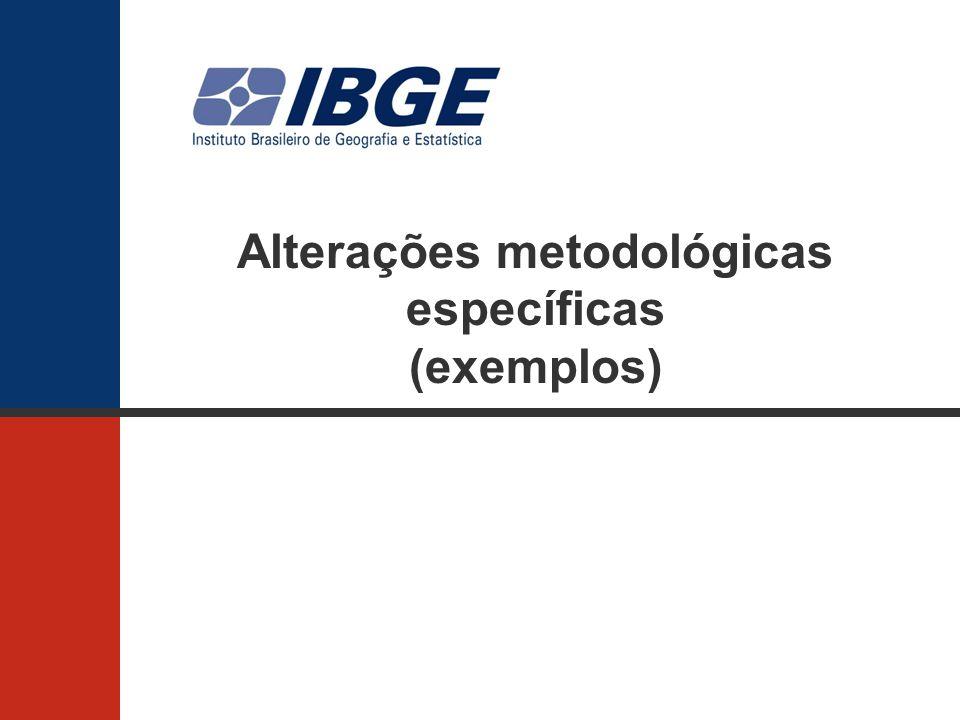 Alterações metodológicas específicas (exemplos)