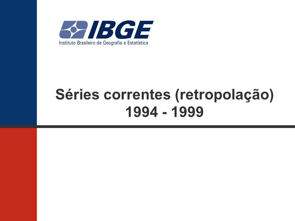 Séries correntes (retropolação) 1994 - 1999