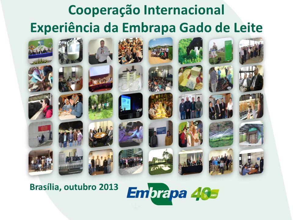 Cooperação Internacional Experiência da Embrapa Gado de Leite Brasília, outubro 2013