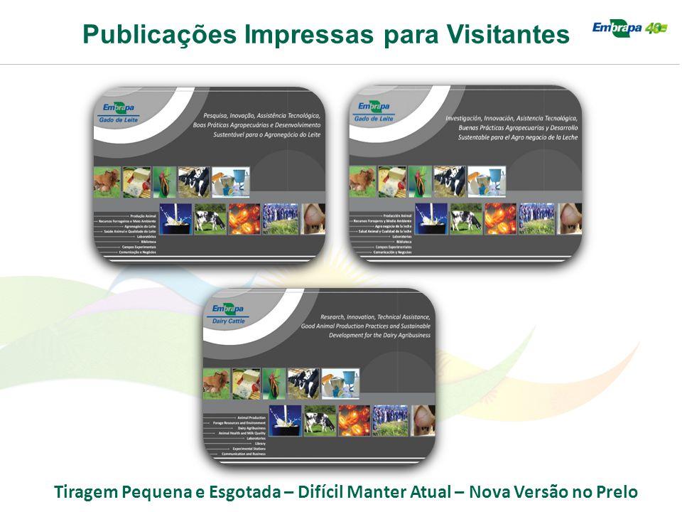 Publicações Impressas para Visitantes Tiragem Pequena e Esgotada – Difícil Manter Atual – Nova Versão no Prelo