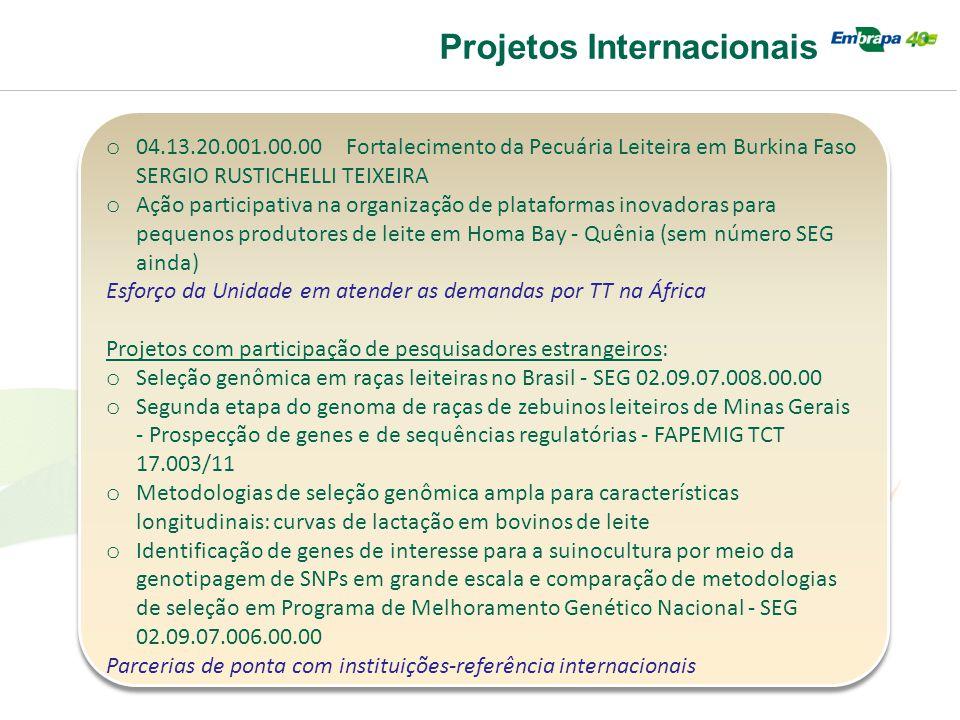 Projetos Internacionais o 04.13.20.001.00.00 Fortalecimento da Pecuária Leiteira em Burkina Faso SERGIO RUSTICHELLI TEIXEIRA o Ação participativa na o