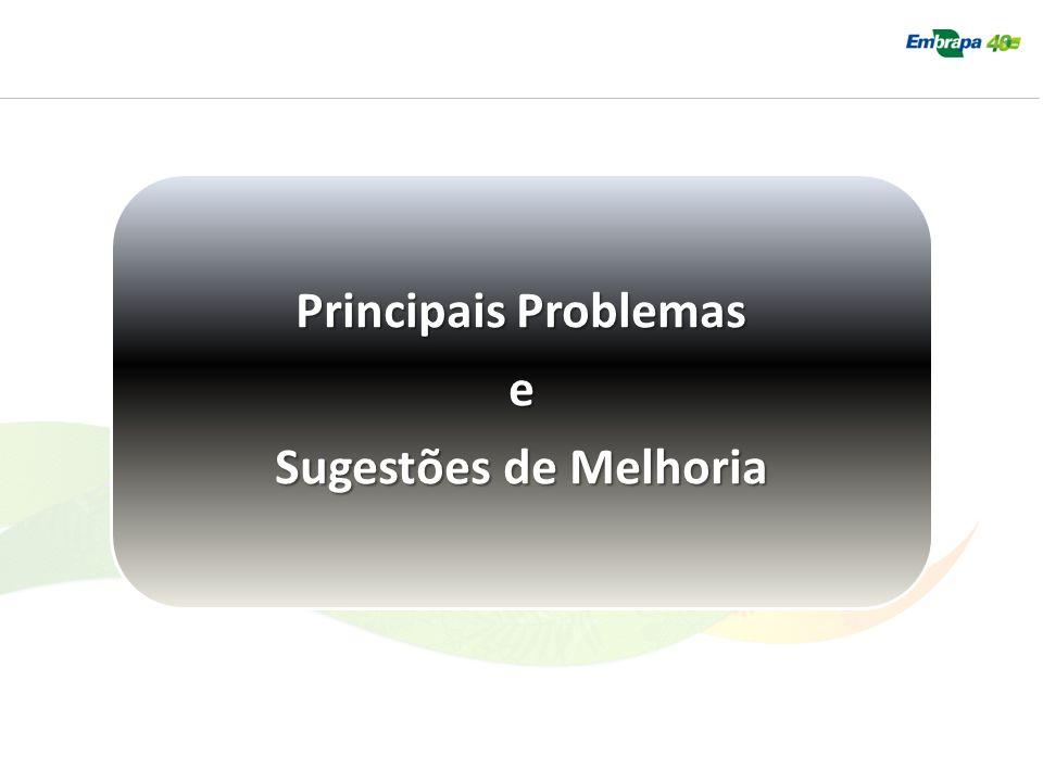 Principais Problemas e Sugestões de Melhoria