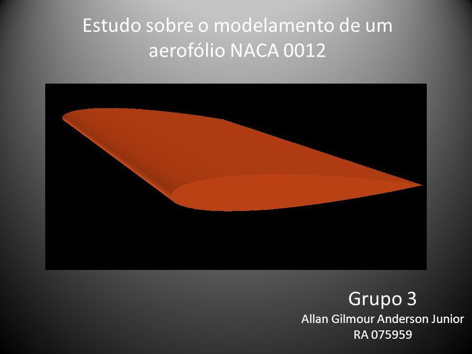 Grupo 3 Allan Gilmour Anderson Junior RA 075959 Estudo sobre o modelamento de um aerofólio NACA 0012