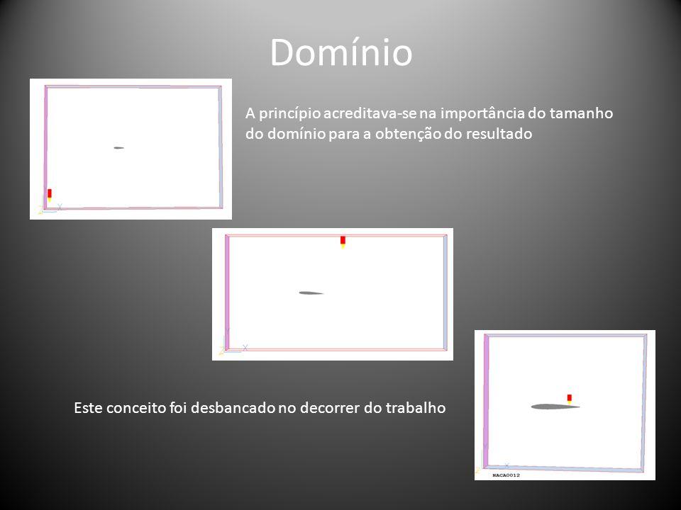 Domínio A princípio acreditava-se na importância do tamanho do domínio para a obtenção do resultado Este conceito foi desbancado no decorrer do trabal