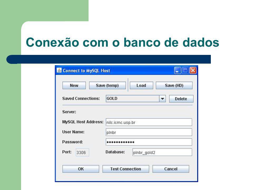 Conexão com o banco de dados