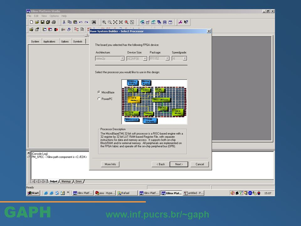 GAPH www.inf.pucrs.br/~gaph port map do pino de interrupção
