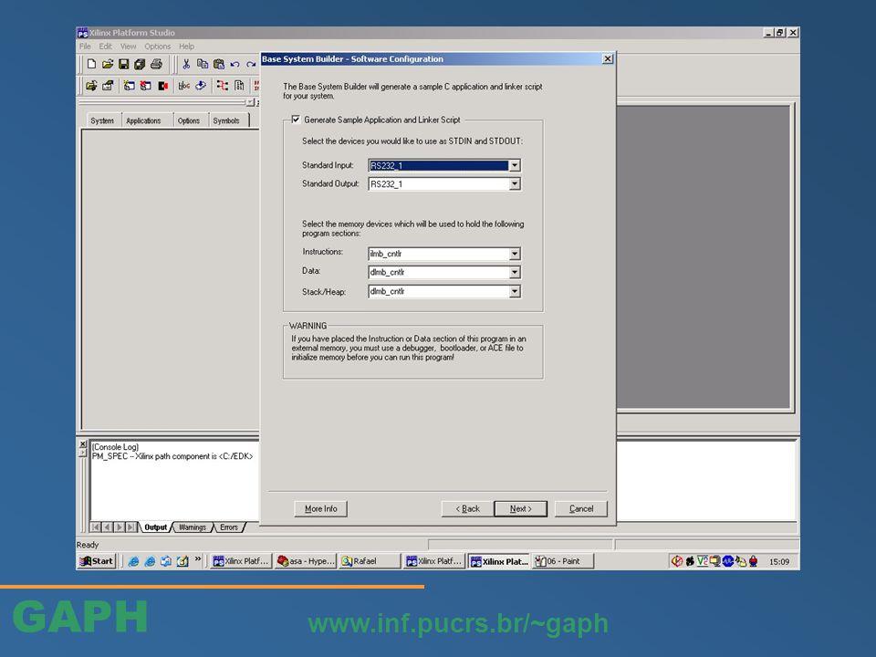 GAPH www.inf.pucrs.br/~gaph Adicionar portas do Controlador de Interrupção