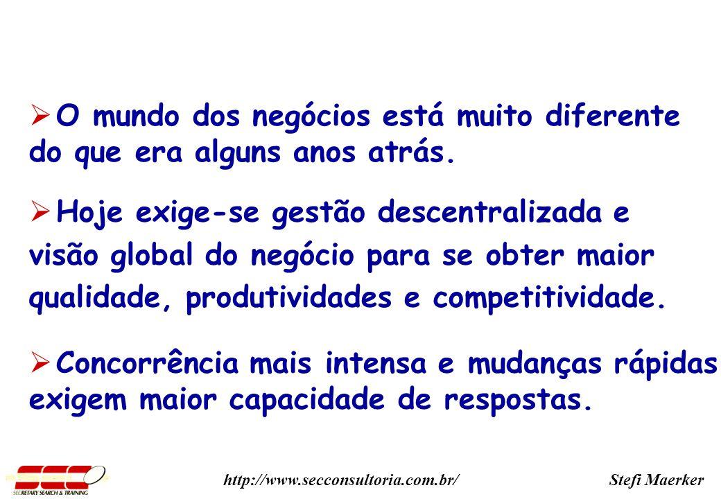 Stefi Maerkerhttp://www.secconsultoria.com.br/ O mundo dos negócios está muito diferente do que era alguns anos atrás.