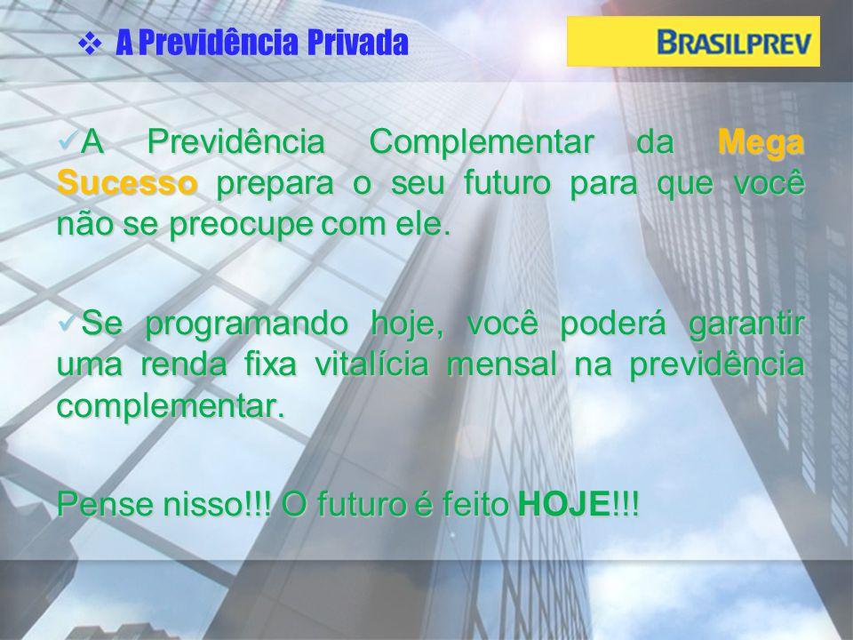 Hoje, mais de 2,5 milhões de brasileiros estão investindo em planos de previdência privada.