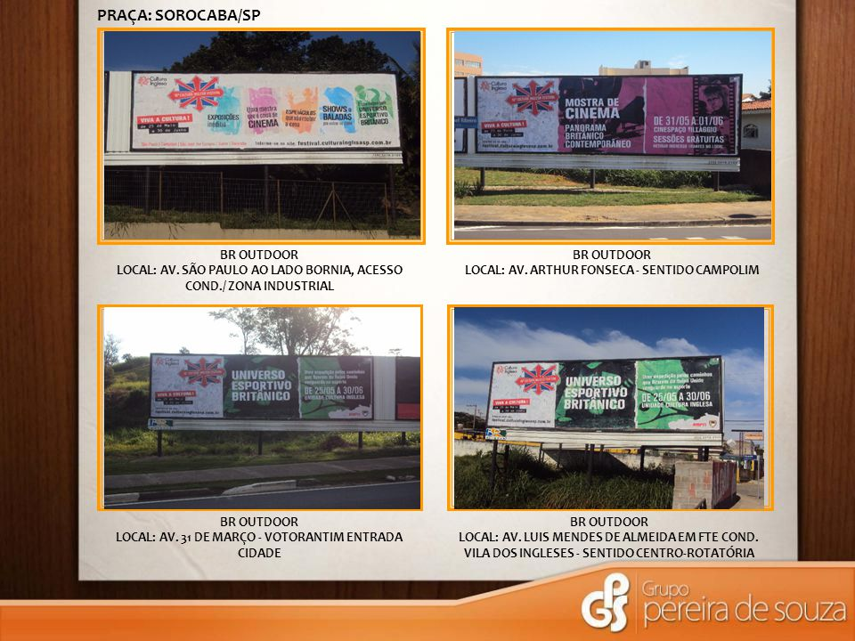 BR OUTDOOR LOCAL: AV.ANTONIO CARLOS COMITRE ACESSO SHOPPING ESPLANADA BR OUTDOOR LOCAL: AV.