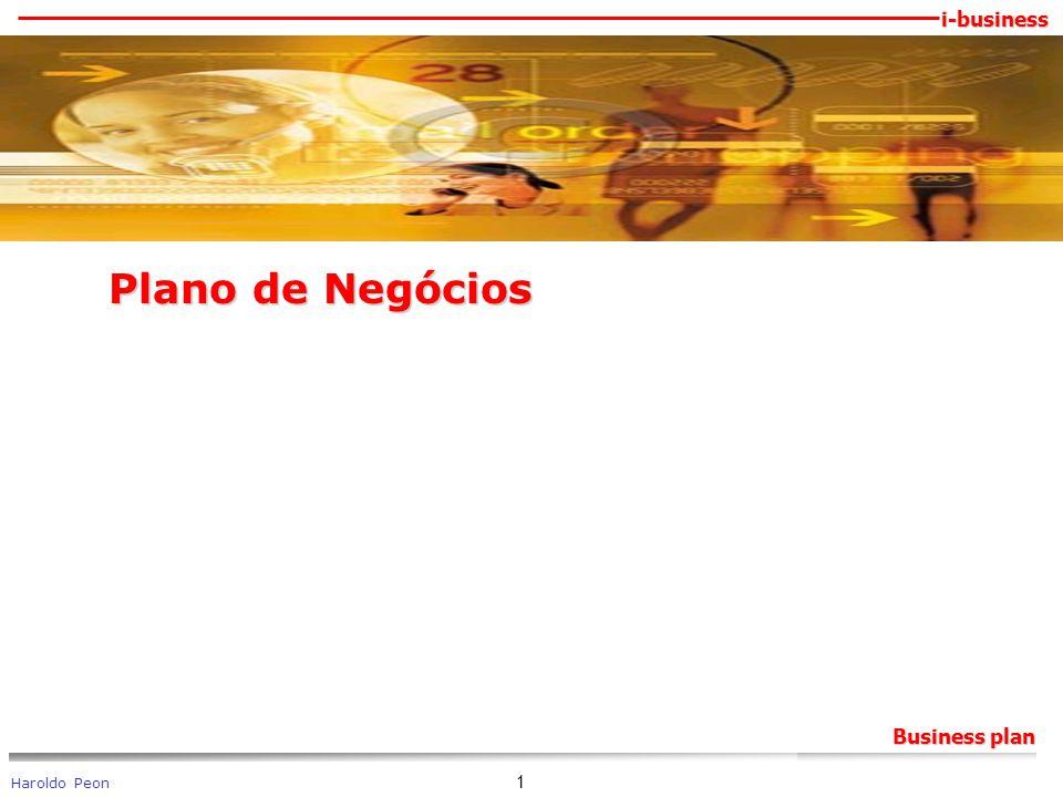 i-business Haroldo Peon Business plan 1 Plano de Negócios