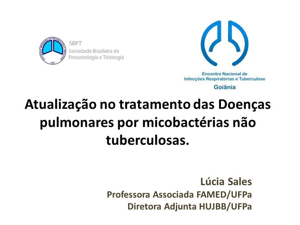 Atualização no tratamento das Doenças pulmonares por micobactérias não tuberculosas. Lúcia Sales Professora Associada FAMED/UFPa Diretora Adjunta HUJB