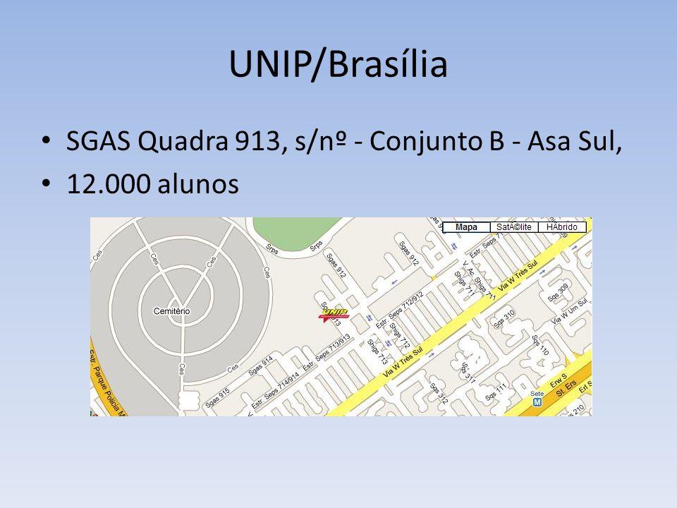 UNIP/Brasília ICET – Instituto de Ciências Exatas e Tecnologia CURSOS DE LICENCIATURA: Matemática (6 semestres) Noite