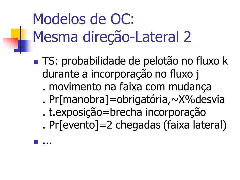 Modelos de OC: Mesma direção-Lateral 1 P&B: