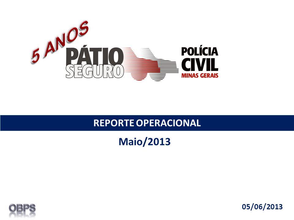 REPORTE OPERACIONAL Maio/2013 05/06/2013