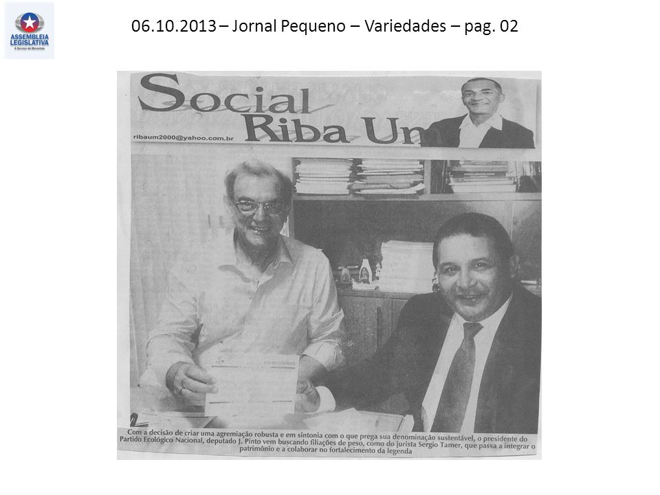 06.10.2013 – Jornal Pequeno – Política – pag. 03