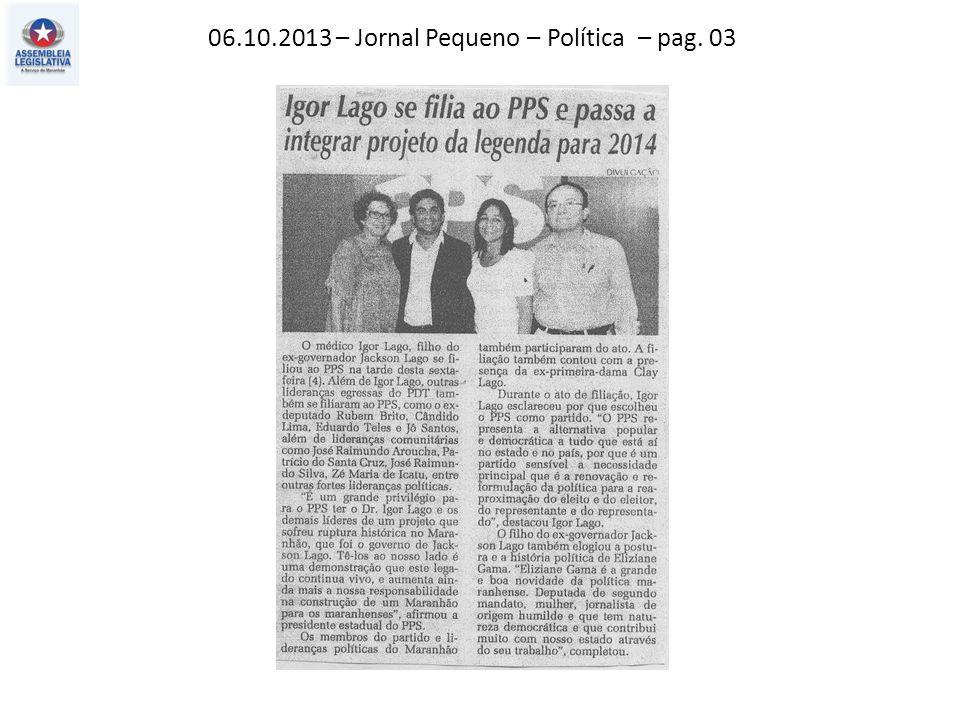 05.10.2013 – O Imparcial – Política – pag. 02