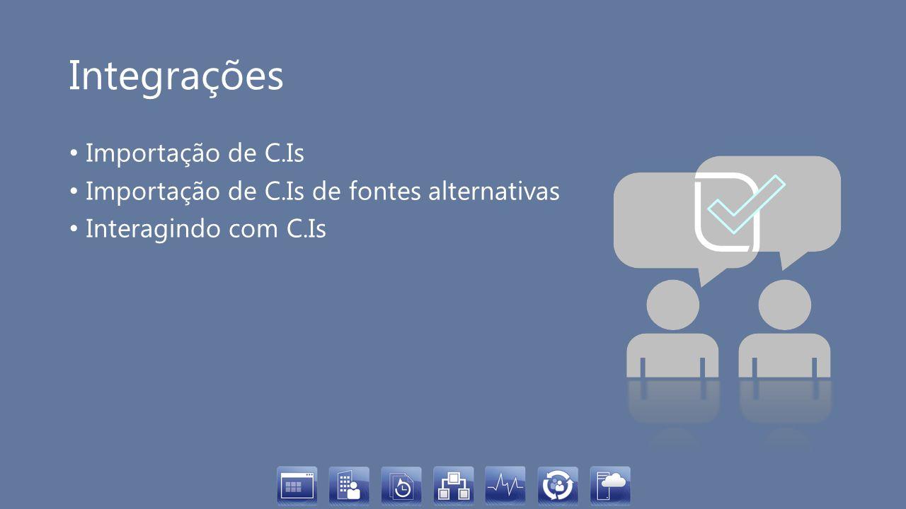 Integrações Importação de C.Is Importação de C.Is de fontes alternativas Interagindo com C.Is