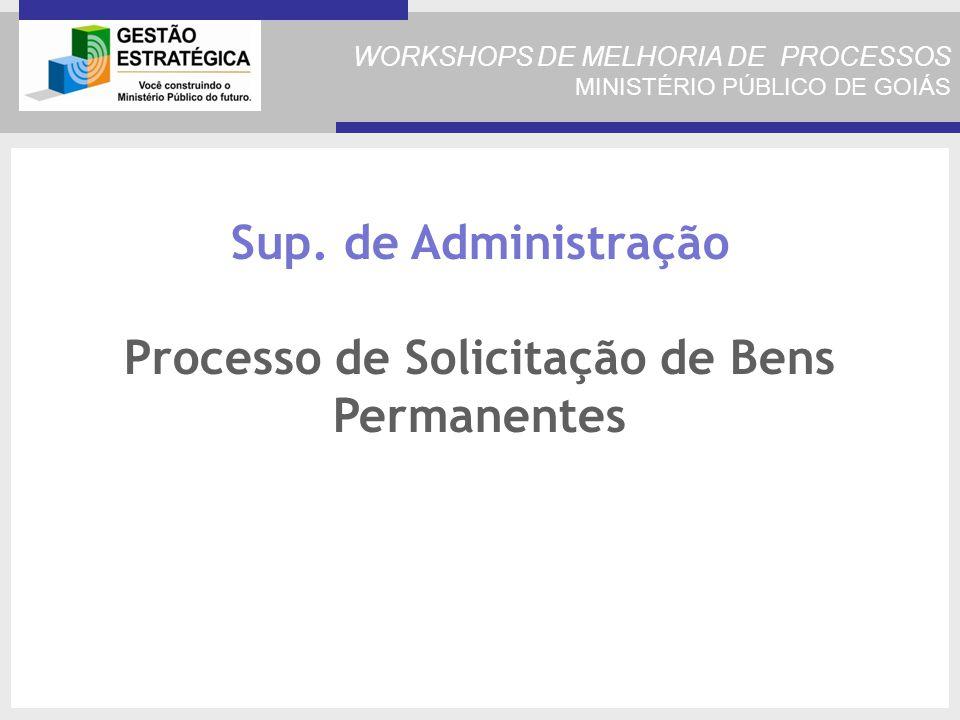 Sup. de Administração Processo de Solicitação de Bens Permanentes