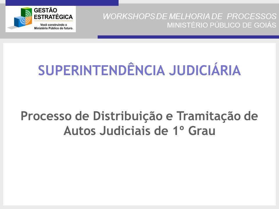 SUPERINTENDÊNCIA JUDICIÁRIA Processo de Distribuição e Tramitação de Autos Judiciais de 1º Grau