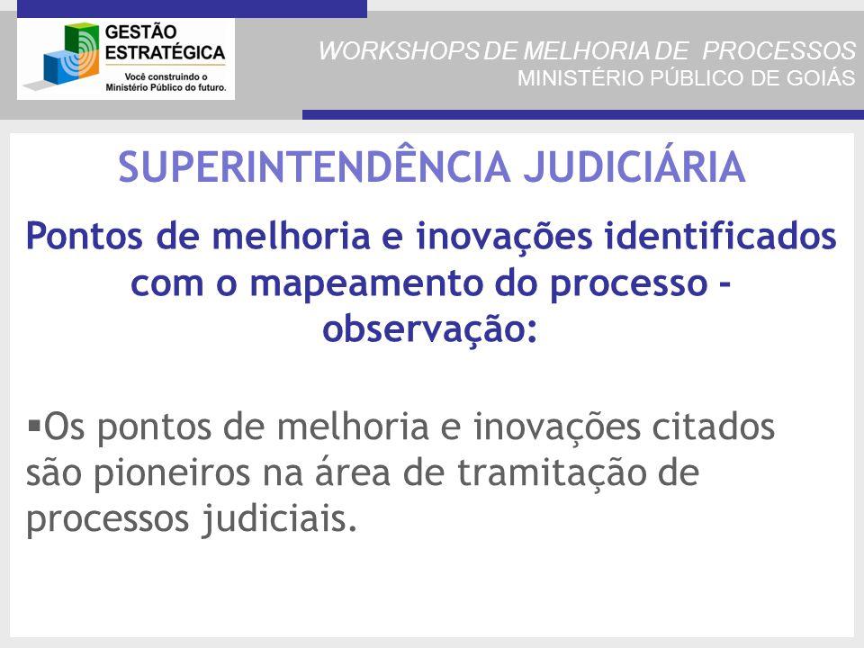 Os pontos de melhoria e inovações citados são pioneiros na área de tramitação de processos judiciais.
