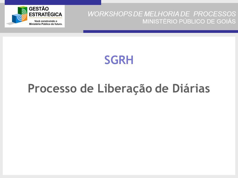 SGRH Processo de Liberação de Diárias