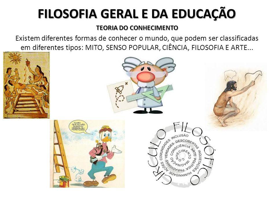 FILOSOFIA GERAL E DA EDUCAÇÃO...Lógica é um instrumento do conhecimento para estabelecer formas corretas de pensar e argumentar...aplica-se no estudo da coerência e veracidade dos argumentos...