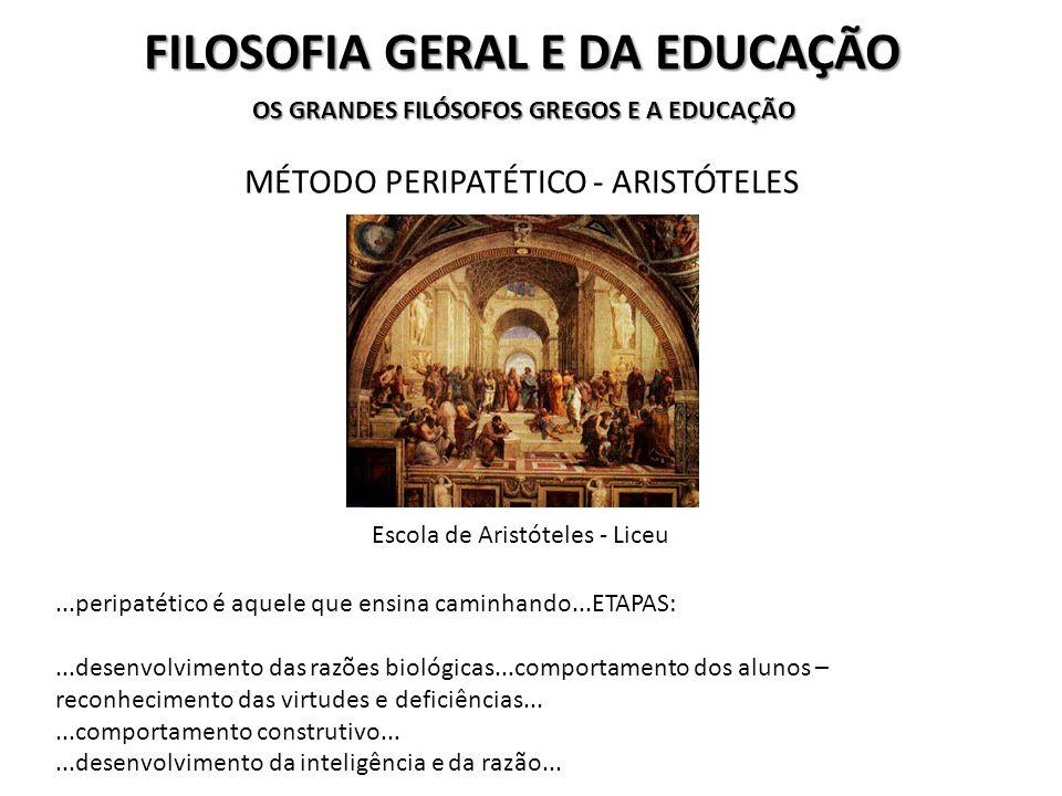 FILOSOFIA GERAL E DA EDUCAÇÃO...os fundamentos de seu pensamento se baseia em um processo educativo centrado no aluno...