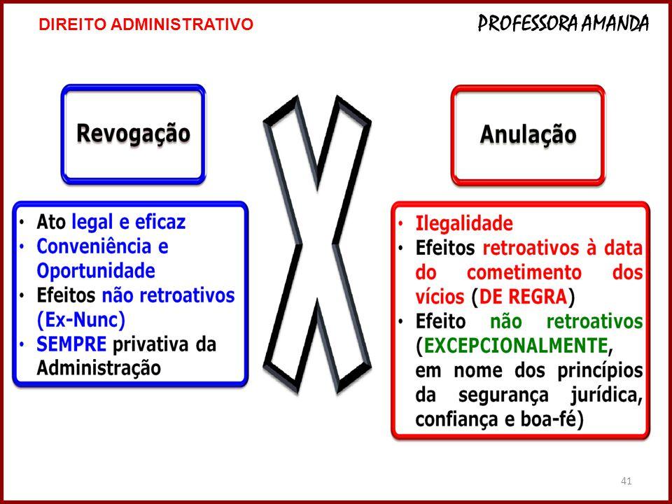 41 DIREITO ADMINISTRATIVO PROFESSORA AMANDA