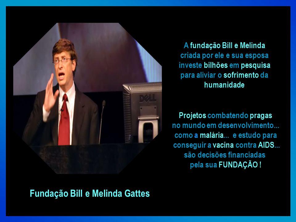 Bill Gates É o fundador da Microsoft... a maior e mais conhecida empresa de software do mundo.