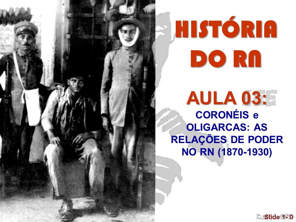 © 2005 Pearson Education, Inc. Slide 1- 0 AULA 03: CORONÉIS e OLIGARCAS: AS RELAÇÕES DE PODER NO RN (1870-1930) HISTÓRIA DO RN