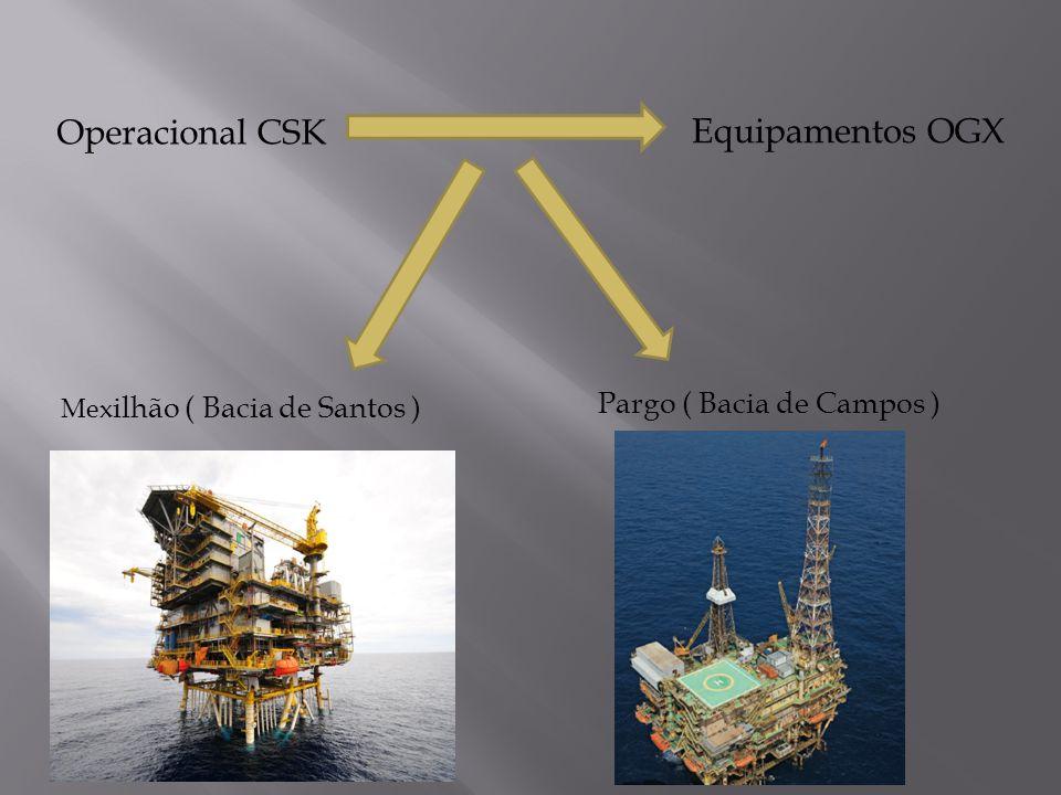 Operacional CSK Equipamentos OGX Mex ilhão ( Bacia de Santos ) Pargo ( Bacia de Campos )