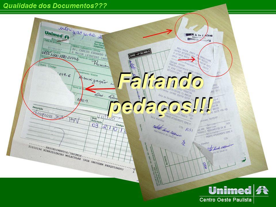 Faltando pedaços!!! Qualidade dos Documentos???